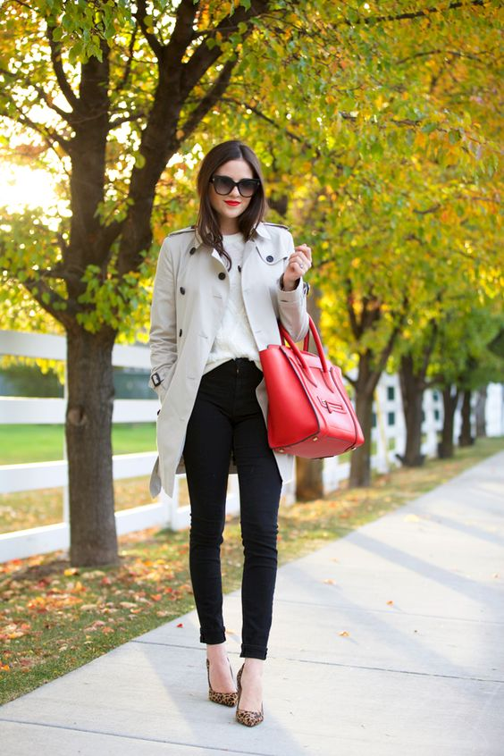 fake celine luggage - Jeans: J.Brand | Sweater: Nordstrom | Trench: Burberry | Heels ...
