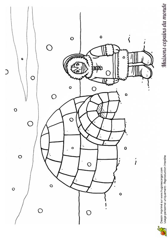 Pinterest the world s catalog of ideas - Esquimau dessin ...