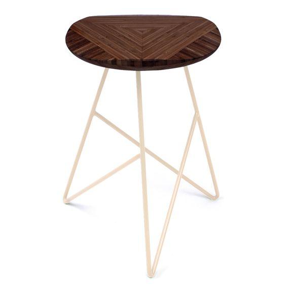studio stool... in chocolate bamboo & peach! <3 #instantgreatlymakeover