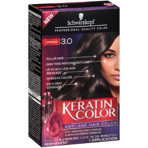 Schwarzkopf Keratin Hair Color 3 0 Espresso 2 03 Oz Hair Color