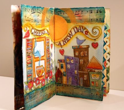 visual blessings: Cheers to a New Day! Mixed Media Journal Pages
