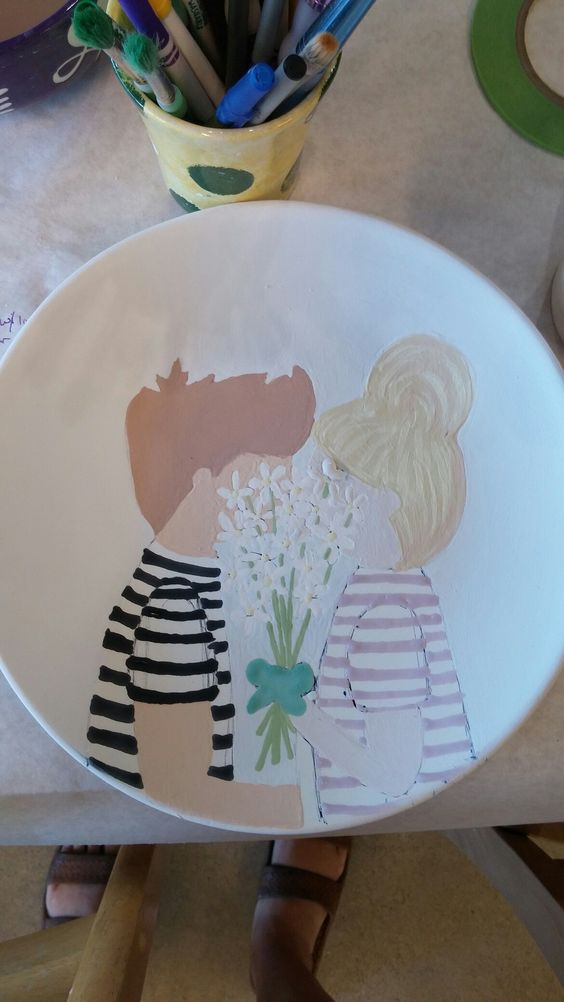 Paint me mine plate for love!