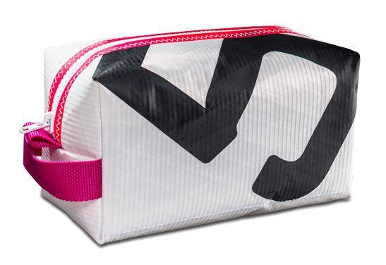 29€, 23x13x13 Bootsmann-Segeltuch-Kulturtasche pink schwarz weiß