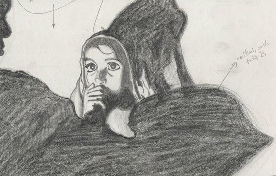 Estudio preparatorio para cuadro / Lápiz / 20 x 13 cm / 1992