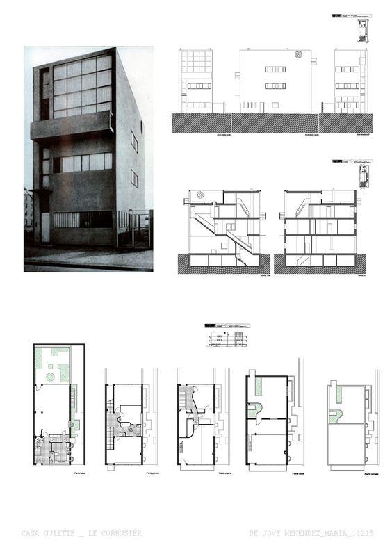 Maison guiette le corbusier antu rpia b lgica 1925 for 5 points of architecture