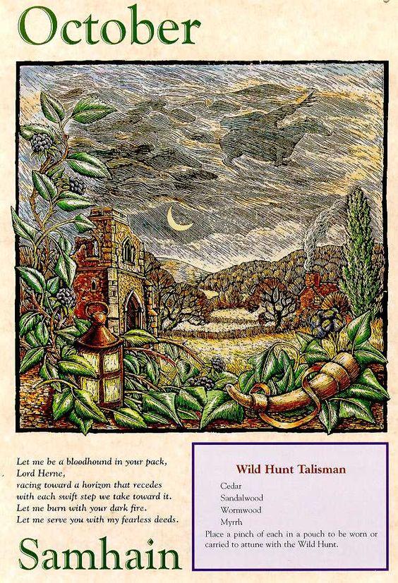 """Samhaim e Beltane são considerados os dois grandes festivais celtas porque marcam as metades clara e escura de um ano completo. Ainda não é inverno, e já não é mais verão. Samhaim é um período do tempo que está """"entre os mundos"""". É quando o véu que nos separa de outras dimensões está fino, facilitando a nossa comunicação com nossos ancestrais que já partiram.:"""