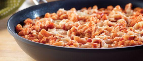 Easy Chicken Parmesan Pasta Skillet
