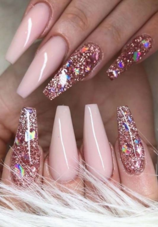 Cute Pink Nails Glitter Acfotografia Aderitacristina Miniensaio Cute Pink Nails Pink Glitter Nails Nail Designs Glitter