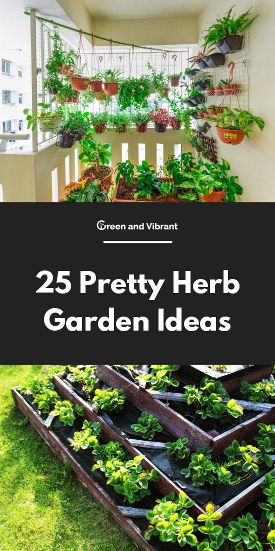 25 Pretty Herb Garden Ideas Trees Com Balcony Herb Gardens Outdoor Herb Garden Herb Garden Design