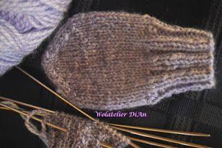 Weblog Wolatelier Dian: Handschoenen breien- Basispatroon 2 Babywantjes