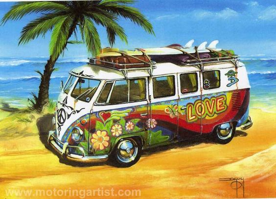 Hippy Love VW Splitscreen Camper Van