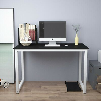 Black Computer Desk Pc Laptop Table Study Free Bookcase Home Office Workstation Affili Home Office Furniture Desk Home Office Furniture White Office Furniture