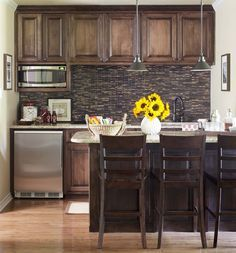 Lower Level Family Room Kitchenette - Great for a tri-level home with family room on lower level.