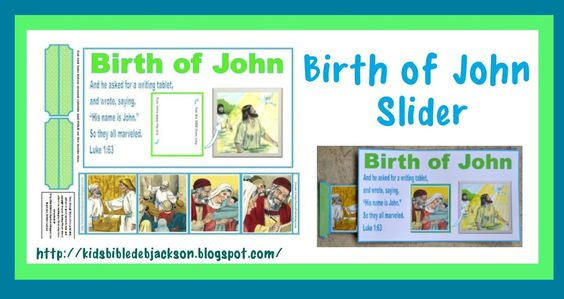 Bible Fun For Kids: Birth of John the Baptist | Sunday school ideas ...