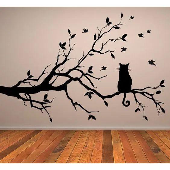 رسومات حوائط أستنسل جدران حديثة 2020 فوتوجرافر Animal Wall Art Family Tree Wall Sticker Wall Sticker