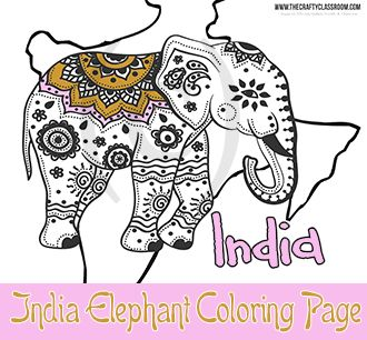 indian elephant india elephant coloring page