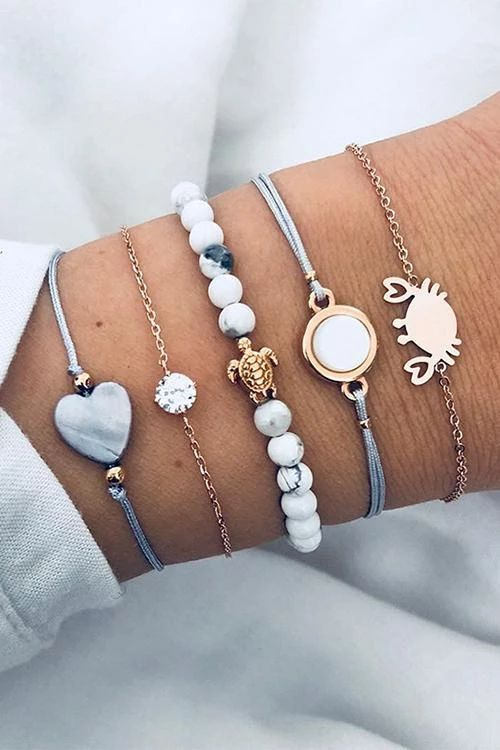 Beach Jewelry The Beach is my Happy Place Bracelet Nautical Jewelry Mothers Day Ocean Jewelry Bangle Beach Bracelet Summer Bracelet Summer Jewelry Gift For Her