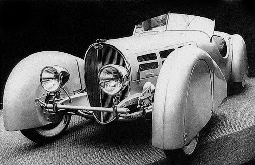 It was personally designed by Jean Bugatti as a two-seater sports coupe and…