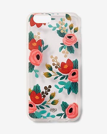 rifle paper co. clear rosa iphone 6/6S case