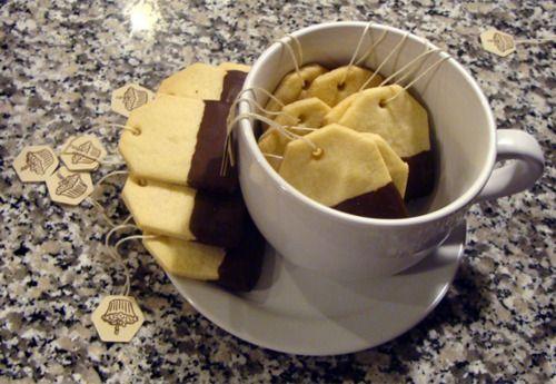 Tea bag cookies! (Such a cute idea!)