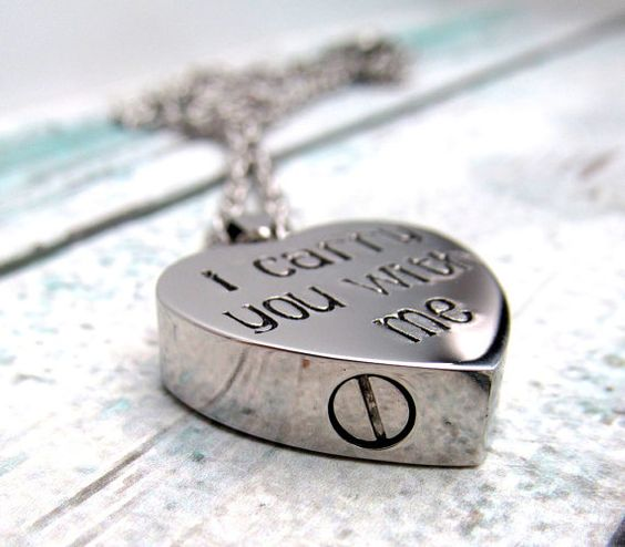 Cremation Jewelry Hand Stamped Necklace by FiredUpLadiesHammer
