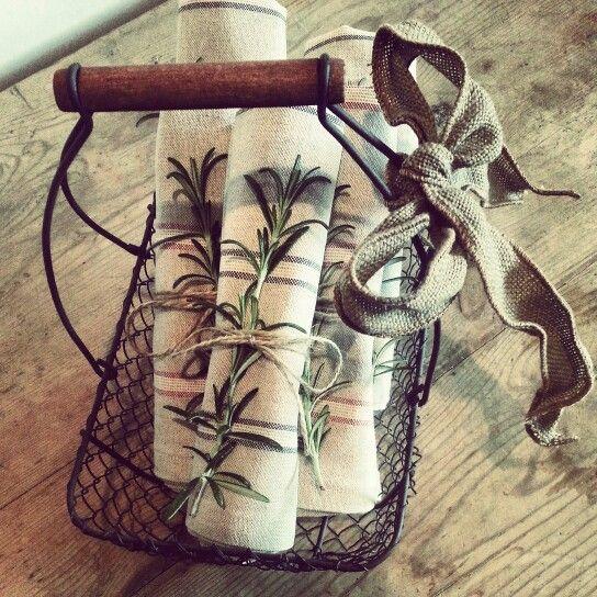 Our handmade tea towels.