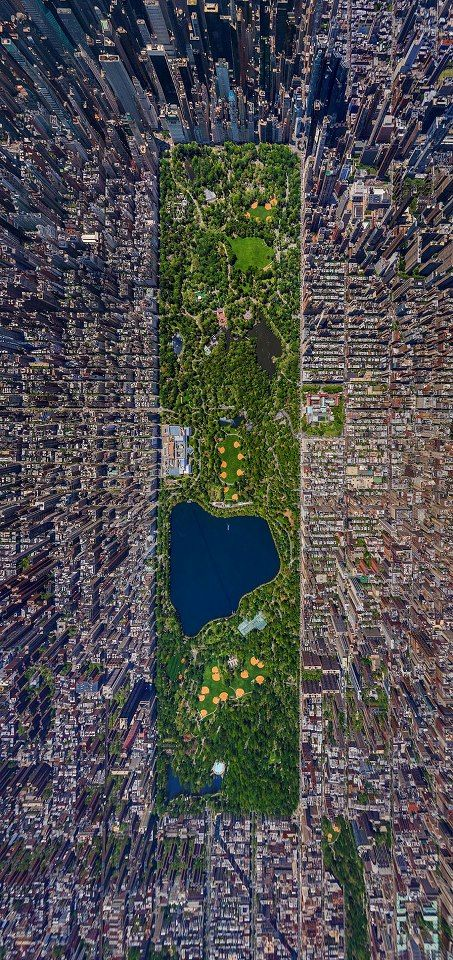 Aerial View of Central Park, New York pic.twitter.com/Yj6Gwm31p3