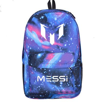 2016 Lionel backpack students backpack youth schoolbag soccer football messi backpack male /female computer bag Christmas gift