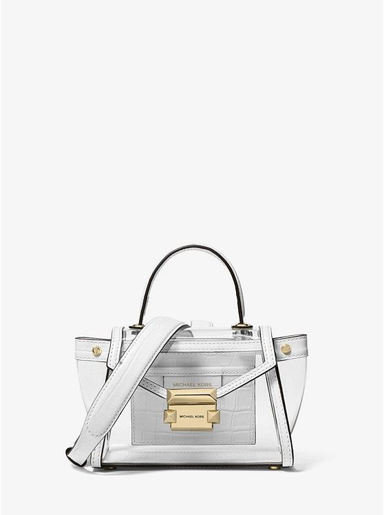 Michael Kors Handbag Leather Satchel, women bag transparent