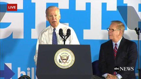 """ABC News Politics on Twitter: """"Biden calls Trump """"a guy born with a silver spoon in his mouth... now he's choking because his foot's in his mouth""""  https://t.co/77d2PVltdE"""""""