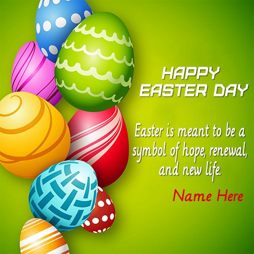 Are you searching for write any name colorful easter