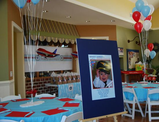 Birthday themes for boys airplane party airplanes and for Aircraft decoration