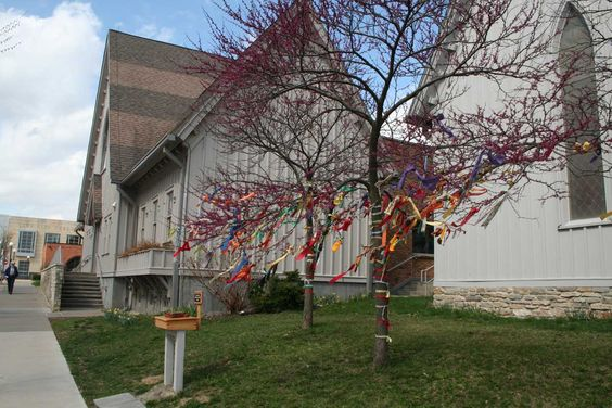 The prayer trees at this Episcopalian church inspire us to let our prayers and our faith outside the doors and allow our community to see and participate in our faith community.