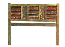 Reclaimed Wood Queen Headboard