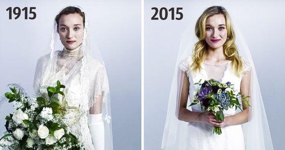 E assim mudou a moda nupcial nos últimos 100 anos