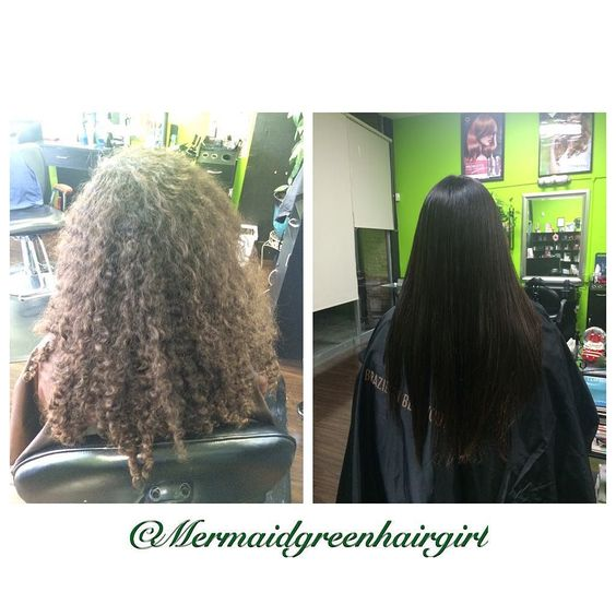 My first Brazilian Blow Out alone ! Her hair was so curly ! And so long after we did the process !! It took 5 hrs !  but results are beautiful . Happy 15th Birthday girl ! #fashioncuts #ssf #bayarea #brazilianblowout by mermaidgreenhairgirl http://shearindulgencespansalon.com/