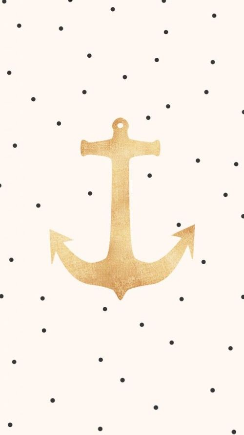 polka dot and gold anchor.  This is going on my phone's  wallpaper immediately