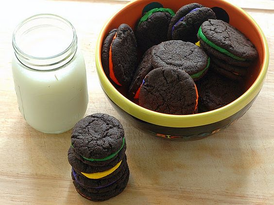 Home made Halloween Oreo Cookies from Good Thymes and Good Food