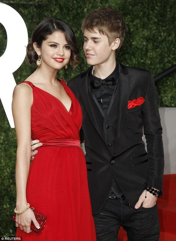 Young love: Justin Bieber and Selena Gomez in 2011, before the couple split. While they were dating, Biebersurprised  Gomez with a private viewing of Titanic at the Staples Centre in downtown Los Angeles