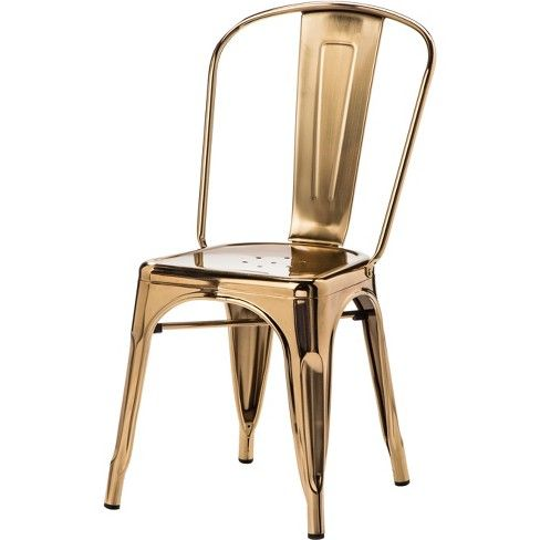 Carlisle Couture High Back Metal Dining Chair Gold Ace Bayou Dining Chairs Metal Dining Chairs High Back Dining Chairs