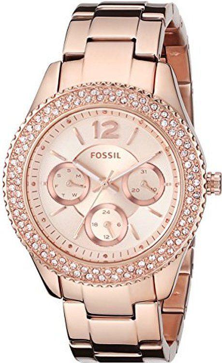 http://www.fashiontrendwebsites.com/category/fossil-watch-women/ Fossil Women's ES3590 Stella Rose Gold-Tone Stainless Steel Bracelet Watch