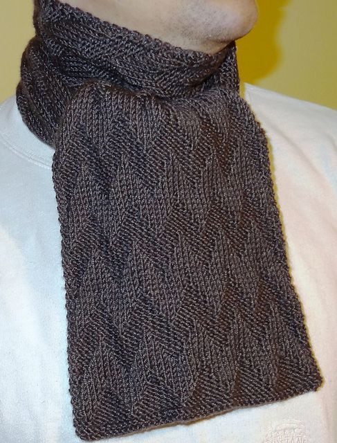 Easy Scarf Knitting Patterns For Men : Chevron scarves, Compliments of and Chevron on Pinterest