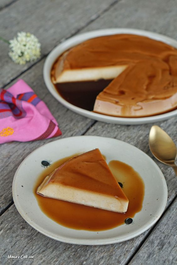 Vegan coconut flan