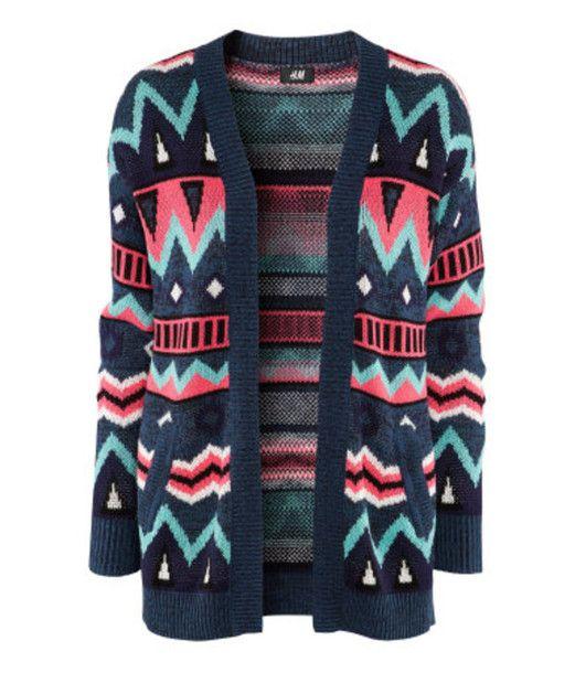 Sweater: knit cardigan, ethnic, ethinc print, aztec, aztec print ...