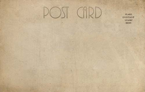 Post Card Set # 3 consists of thirteen very large (99 MB), old and rustic post card  images. Hope they can be of some small use to you.