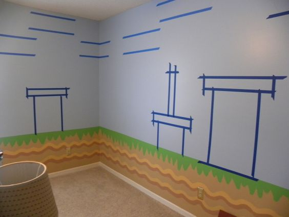 Mario bros all of the details have been hand painted to for Room painting games