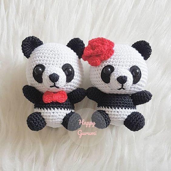 Craft Lotus: Panda (Free Amigurumi Pattern) | Crochet panda ... | 564x564
