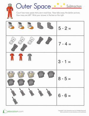 Astronaut Math | Astronauts, Math and Kindergarten math