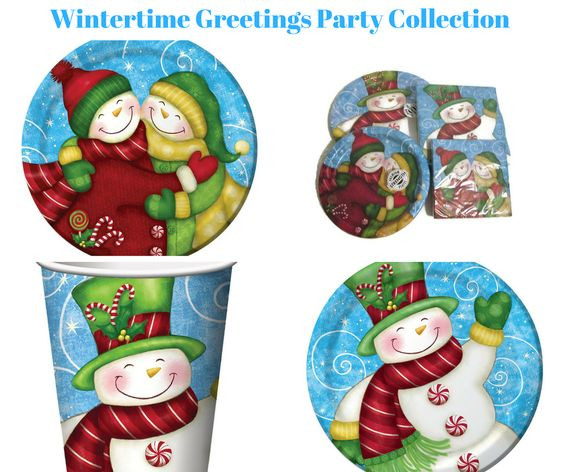 Wintertime Greetings Party Banner