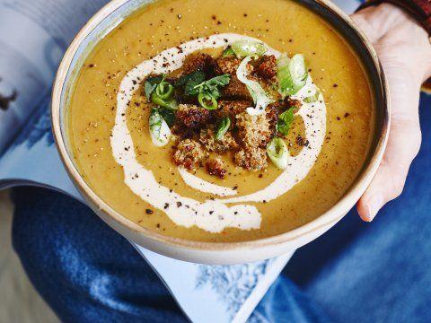 Pittige maaltijdsoep van linzen | Recept | Linzen recepten, Linzen ...